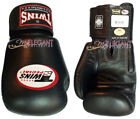Twins Muay Thai MMA Boxing Training Gloves Leather with Strap BGVL-3 Black