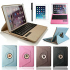 "For iPad Pro 9.7""/12.9"" 360 Swivel Leather Case Cover WITH Bluetooth Keyboard"