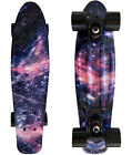 "LMAI 22''/27"" Cruiser Skateboard Graphic Galaxy Space Board Complete Penny Style image"