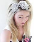 Diamante Crystal Party Bow headband, Sparkle Head Band, Diamante headband, Hen