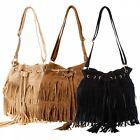 Stylish Retro Women HOBO Bag Tassel Suede Fringe Shoulder Messenger Handbag