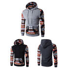 Men Fashion Sweater Coat Long Sleeve Hooded Pocket Pullover Blouse Top Outwear
