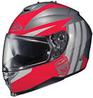 HJC IS-17 GRAPPLE RED SILVER Full Face DOT FREE SHIPPING