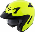 SCORPION EXO-CT220 NEON YELLOW SOLID Open Face DOT FREE SHIPPING