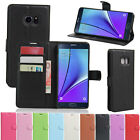 Folio PU Leather Flip Wallet Card Case Cover For Samsung Galaxy Note 7 5 4 3