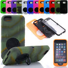 Hybrid ShockProof Defender Rugged Armor Tough Stand Case Cover& Screen Protector