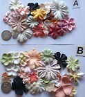 SCRAPBOOKING NO 270 - 18 MIXED PRIMA PAPER FLOWERS - 7 DIFFERENT PACKS AVAILABLE