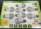 60 Watt Equivalent  A19 LED Light Bulb ( Natural White 4000K )  806 Lumens