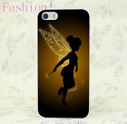 Hard Phone Case the wings of the angel of peter pan TINKERBELL for iPhone 5 6 7