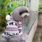 Small Pet Dog Clothes Cat Dog Coat Jacket New Cute Snowflake Deer Puppy Clothing