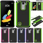 Hybrid Shockproof 2 in1 Silicone Rubber Case For LG Stylo 2 Plus / Stylus 2 Plus