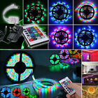 RGB 5M 10M 3528 300 Leds SMD LED Strip Light Flexible Remote Controller Adapter
