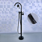 Floor Standing Bathtub Faucet Single Handle Mixer Tap with Handheld Shower Newly