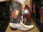 LOS ALTOS NATURAL GENUINE SNIP TOE OSTRICH LEG WESTERN COWBOY BOOT (EE+) 940577