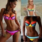 Sexy Women Bandage Bikini Set Push-up Padded Bra Swimsuit Bathing Suit -Swimwear