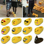 Cute Emoji Expression Men Women Slippers Warm Pajamas Home Indoor Unisex Shoes