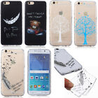 Ultraslim TPU Silicone Case Cover Soft Skin Thin Transparent Clear New Painted