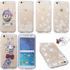 Clear Patterned Ultraslim TPU Silicone Case Cover Soft Skin Gel Thin Transparent