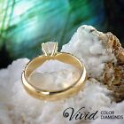 Engagement Ring Size 6 Pave Diamond 1.6 CT VS-SI/D-F 14k Yellow Gold Enhanced