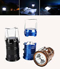 Camping tent Lantern Rechargeable USB solar power Flashlight Hiking LED Lamp