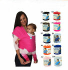 Original Mo-by Wrap Infant Baby Carrier Breastfeed Sling Top New Cotton Backpack