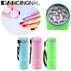 Mini Portable 9 LED Nail Dryer Curing UV Lamp Flashlight Torch Nail Polish