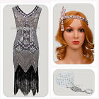 Ladies Charleston Flapper 1920s Fancy Dress Gatsby Cocktail Costume Adult Outfit
