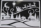 4 Cottage Cutz 'Santa Village Scene' die-cuts on a choice of colours