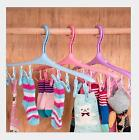 New Plastic Drying Hanger Rack Laundry Underwear Sock Clothes 8 Clip Airer PPG