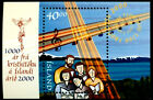 Iceland 2000 Christianity in Iceland,Singing gruop,Choir,Music,Mi.Bl.25,MNH