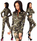 Sexy Women's Military Denim Jeans Playsuit Jumpsuit Overall Skinny Slim H 673