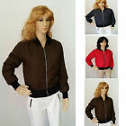 Ladies Winter Jacket Classic outdoor Style  Zip Up Biker style Grey Red