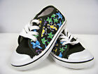 New Toddler Girls Canvas Low -Top Athletic Shoe  ( Black- Sealife )  Sizes 6 -11