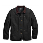 Harley-Davidson® Mens Utility Pocket Washed Black Casual Jacket, Cod.97574-16VM