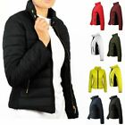 Ladies Smart Quality Puffer Quilted Padded Warm Thick Bomber Womens Jacket Coat
