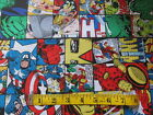 Marvel Comic Patch Cotton Fabric Super Heroes 3/4 Yard #246-1