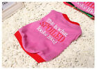 Pet Dog Clothes Cotton This is what SPOILDED looks like Design T-shirt Red A352