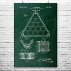 Billiards Pool Ball Triangle Poster Patent Print Pool Triangle Billiards $11.95 USD