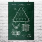 Billiards Pool Ball Triangle Poster Patent Print Pool Triangle Billiards $12.95 USD on eBay