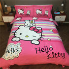 Kids Hello Kitty Bedding Duvet Quilt Cover Bed Sheet Set Twin Queen King Cotton