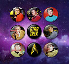 Star Trek Original Series style 38mm Badges & Fridge Magnet set TV Enterprise