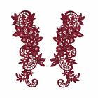 """8""""x2.75"""" Lavender Black Gray Red Gold Lilac Embroidered Lace Trim Bodice Motifs"""
