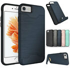 For iPhone 6 6S Plus Card Pocket Holder Shockproof Kickstand Hard Case Cover