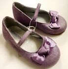 MONSOON Baby Girl LILAC Shimmer Mary Jane Shoes Ballerina Flats UK 2 4 £14