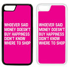 Life Sayings Quotes Printed PC Case Cover - Money Shopping - S-A1208