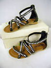 New Girls Black Sandal Gladiator Style with Straps and Bling Youth Size 11