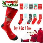 Unisex Winter Christmas Xmas Warm Wool Socks Novelty Cute Snowflake Deer Santa