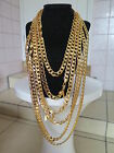 """Never Fade 20""""-36"""" 10mm 18K Gold Plated Necklace Unisex Fashion Birthday Present"""