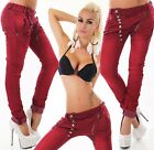 Sexy New Women's Denim Claret Red Jeans Trousers Boyfriend Harem Baggy J 133