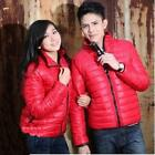 New Fashion Casual Womens Mens Winter Warm Cotton Padded Coat Jacket Red
